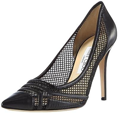 ada5ba36c83 Jimmy Choo Women s Margot Court Shoes Black Size  6 UK  Amazon.co.uk ...