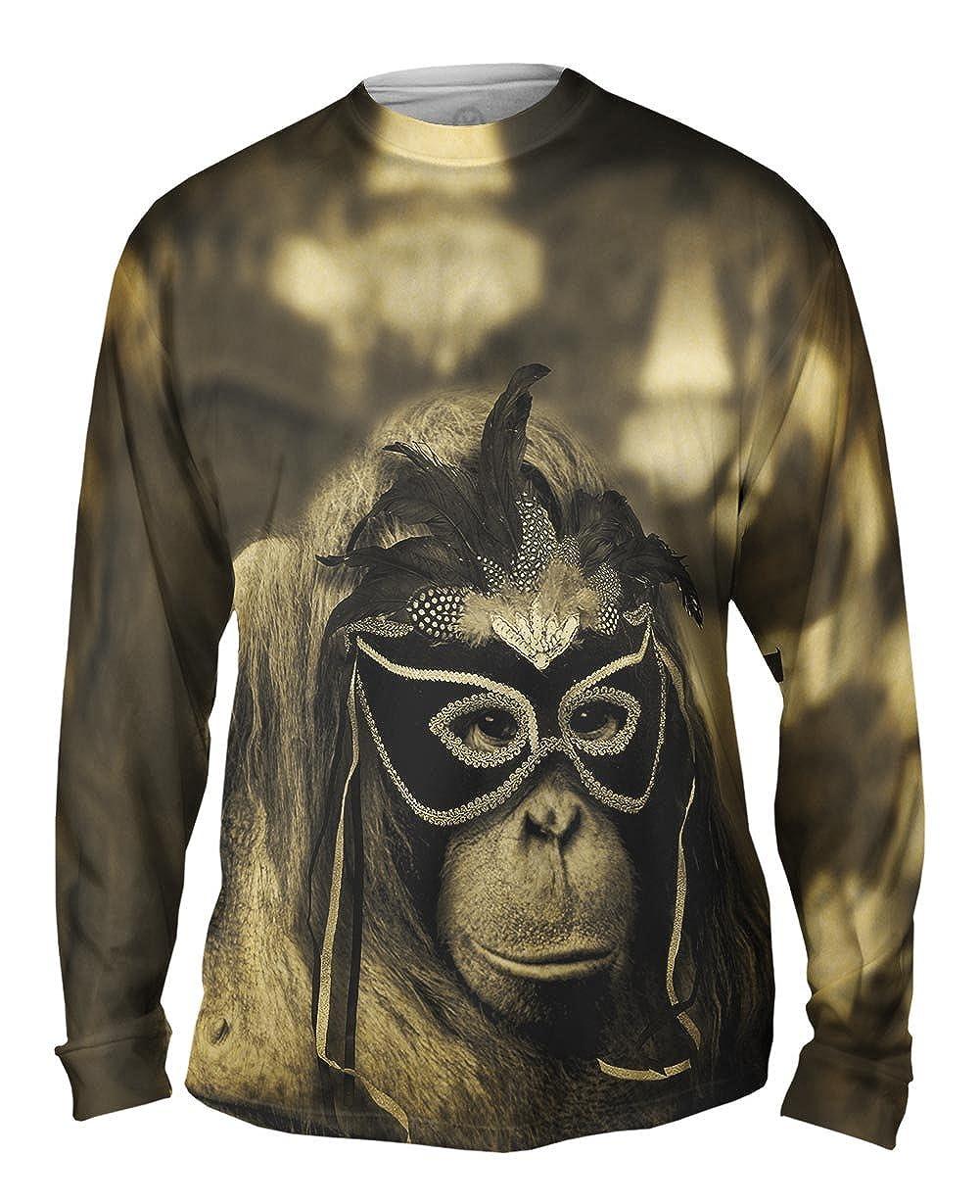 Yizzam TShirt Mens Long Sleeve Orangutan Mask