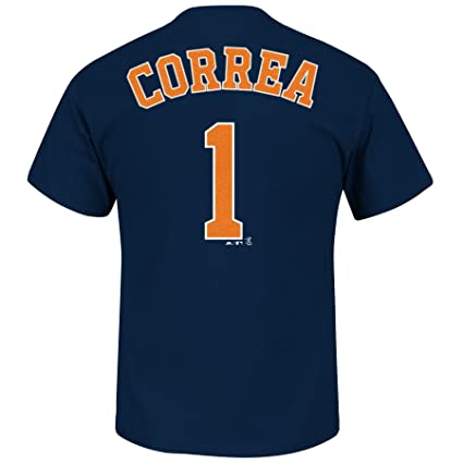 9031cb62a6b Image Unavailable. Image not available for. Color  Majestic Carlos Correa  Houston Astros Youth Player ...