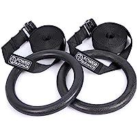 POWER GUIDANCE Gymnastiekringen Gymring met banden - Olympische gymnastiekringen voor kracht- en lichaamsgewichttraining…