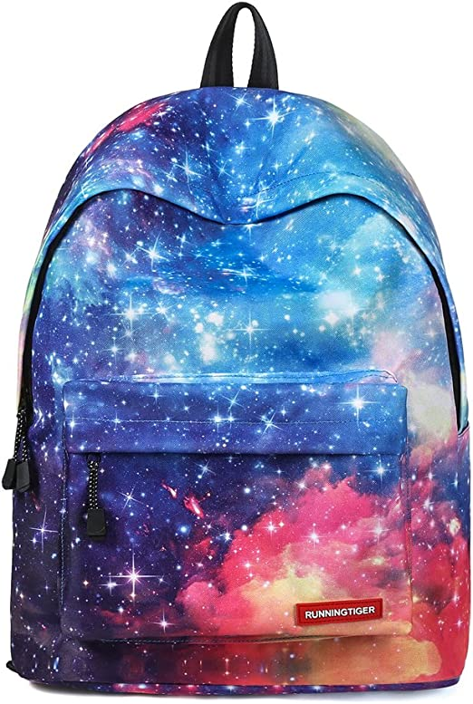 CYFLY 3D stamped backpack blue fashion boy teenager boy backpack in galaxy space laptop student rucksack