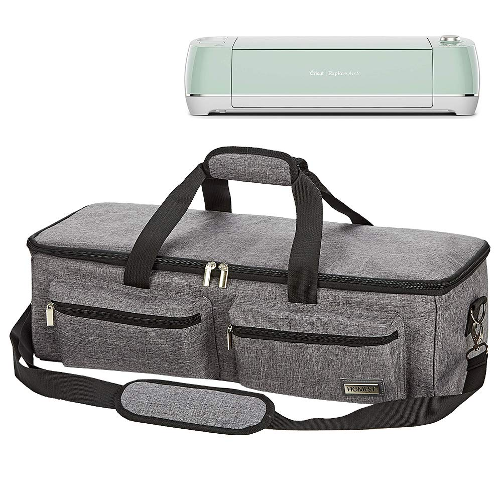 HOMEST Carrying Case Compatible with Cricut Explore Air 2, Cricut Maker, Cricut Explore Air, Grey