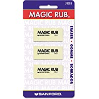 Sanford Products - Sanford - MAGIC RUB Art Eraser, 3/Pack - Sold As 1 Pack - Non-abrasive vinyl for use on drafting…