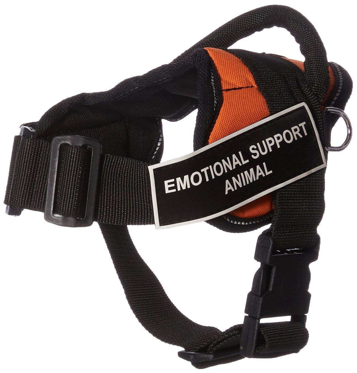 Dean & Tyler Fun Emotional Support Animal XX-Small Arancione Imbracatura con Inserti Riflettenti.