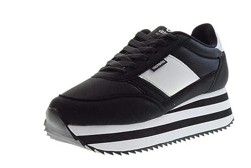 VICTORIA Zapatos Mujer Zapatillas Bajas con Plataforma 142107 Nero: Amazon.es: Zapatos y complementos