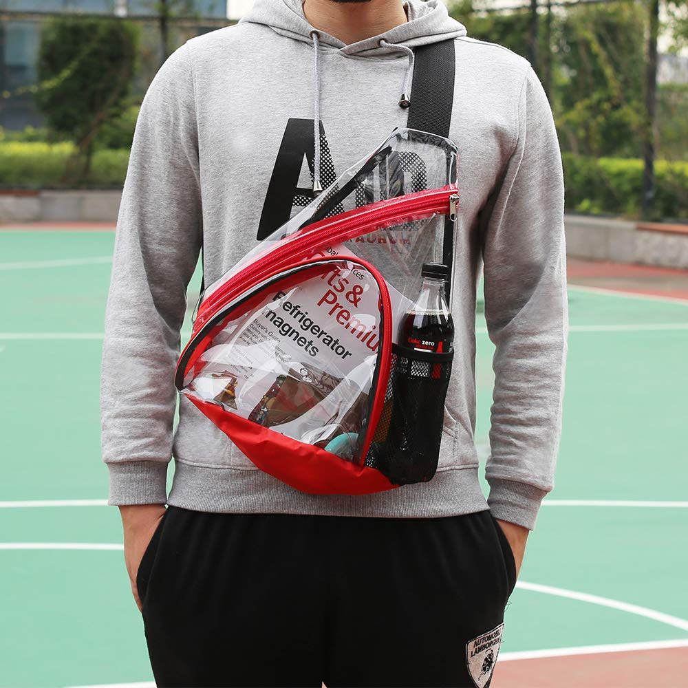 Clear PVC Sling Bag - Stadium Approved Transparent Shoulder Crossbody Backpack for Women & Men,Perfect for Work, Travel, Stadium and Concerts by Magicbags (Image #7)