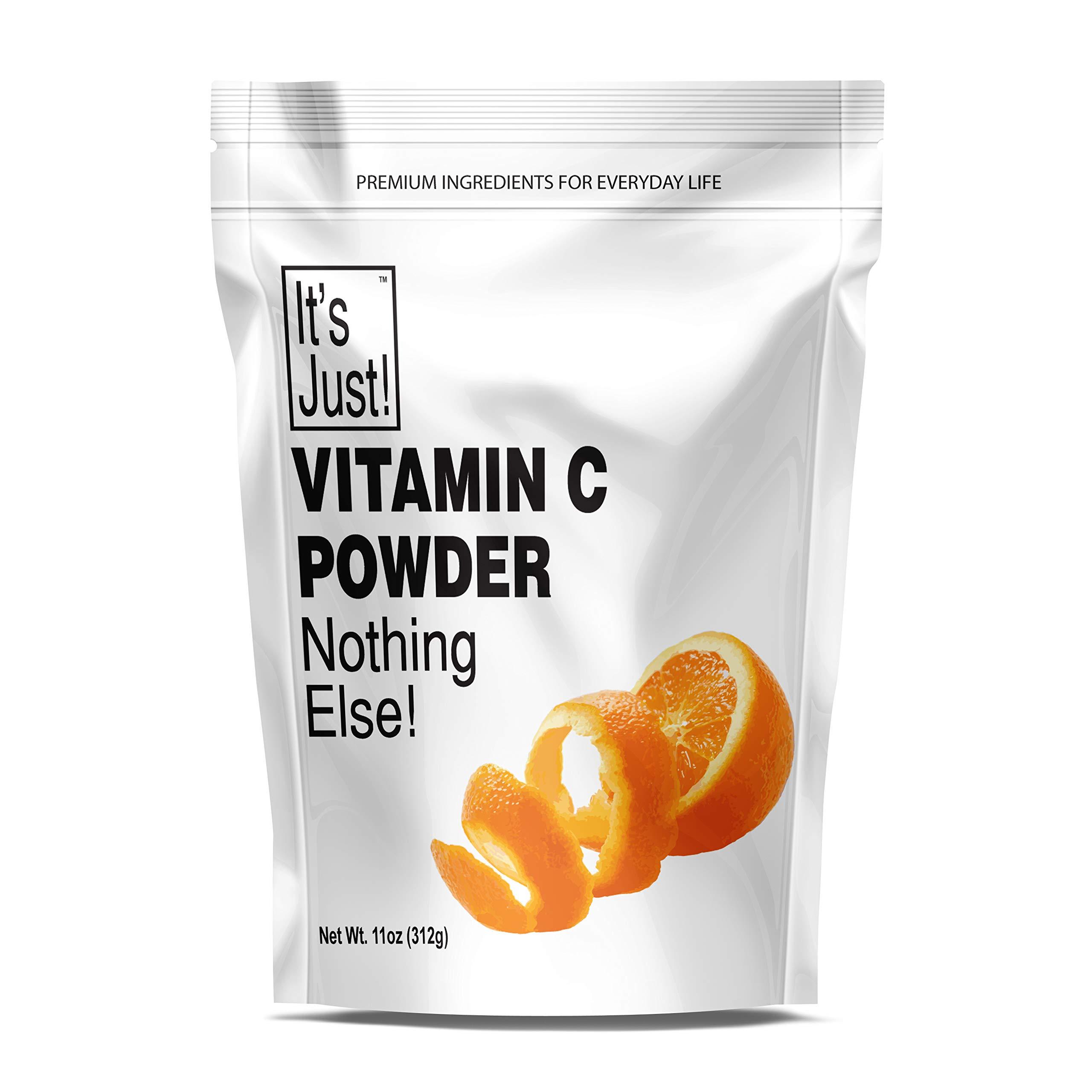 It's Just - Vitamin C Powder, 100% Pure Ascorbic Acid, Food Grade, Immune Support, Homemade Cosmetics (11oz)