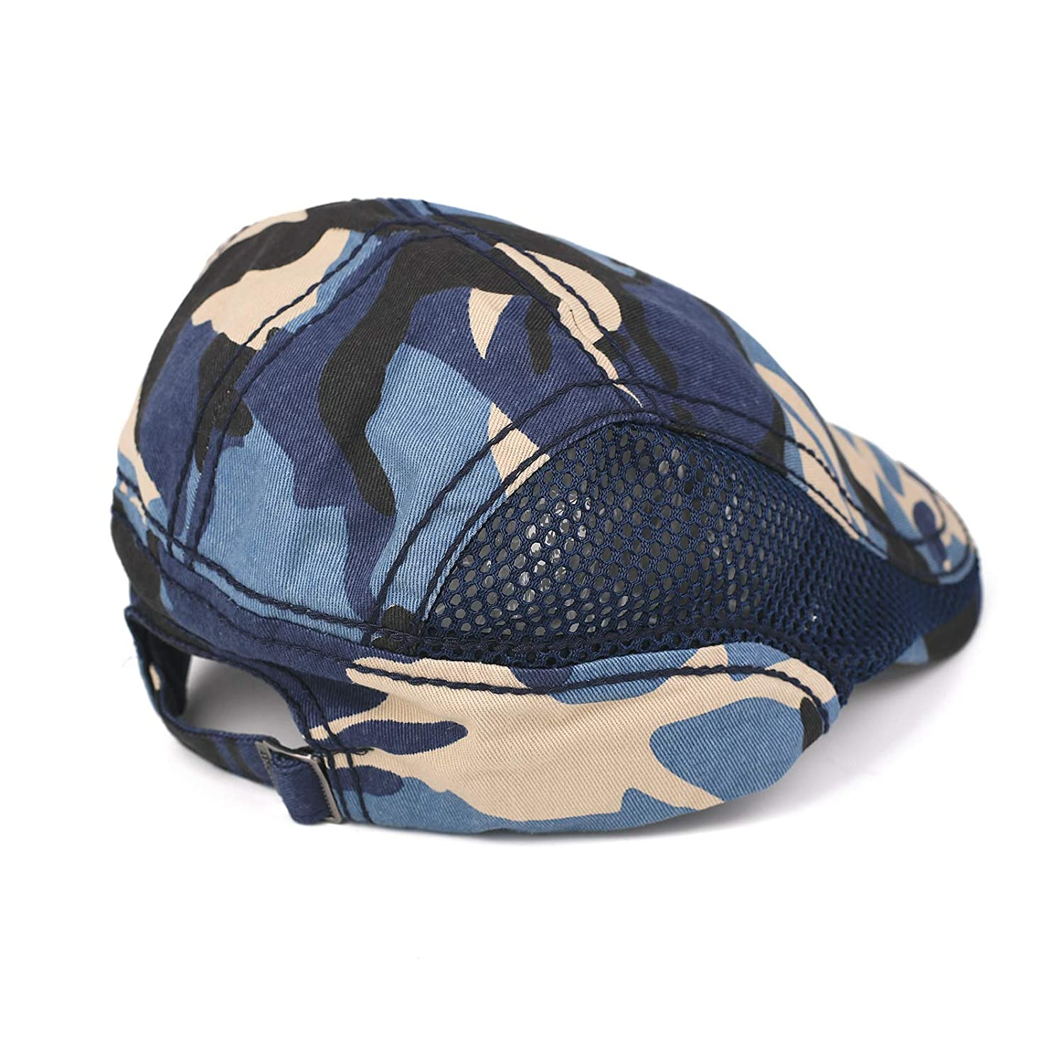 HomeDay Flat Cap for Men Summer Camo Newsboy Gatsby Hat with Ventilation Side Mesh