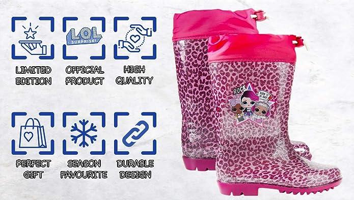 Stivali da pioggia per Bambini LOL Surprise Rosa