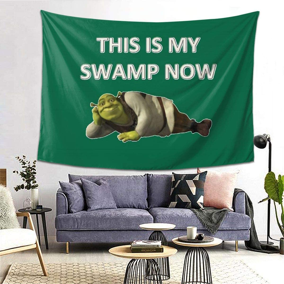 MOONSOON This is My Swamp Now Boutique Tapestry Wall Hanging Tapestry Vintage Tapestry Wall Tapestry Micro Fiber Peach Home Decor 60x80inch