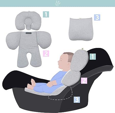JANABEBE Reductor Universal Bebe Silla de Coche y Paseo 3 piezas (Robot Space)