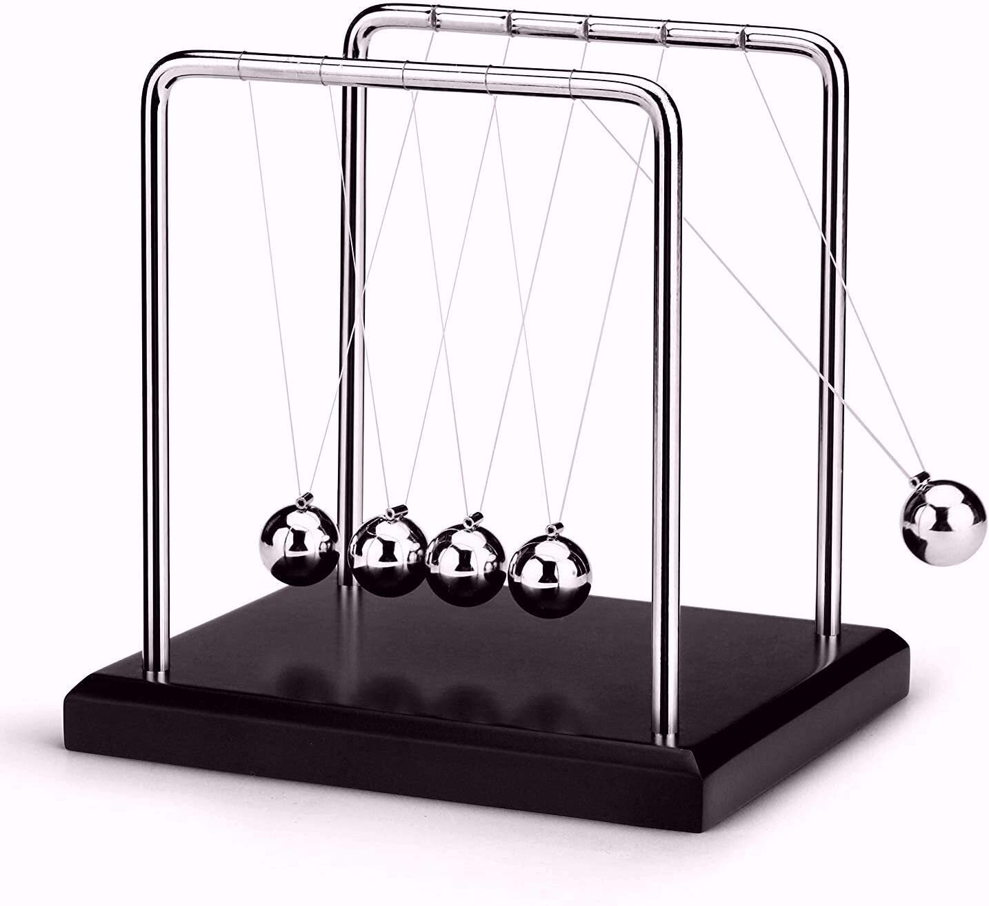 LtytyJ Newton's Cradle - Demonstrate Newton's Laws with Swinging Balls Physics Science Office Desk Decoration (Classic)