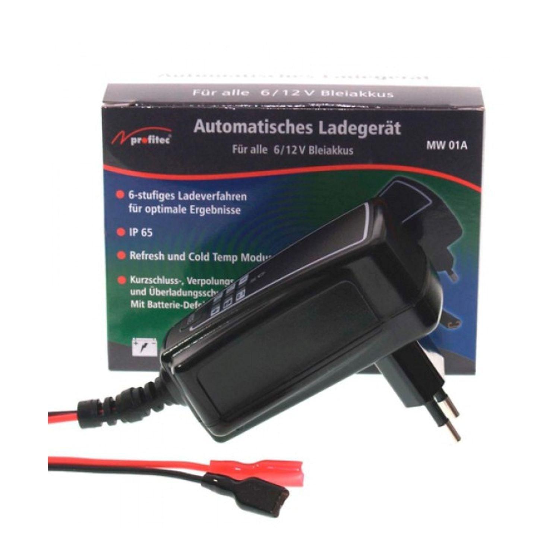 Profitec MW 01A Chargeur pour batteries au plomb 6ou 12V (reconnaissance automatique) et un courant de charge de 1000mA