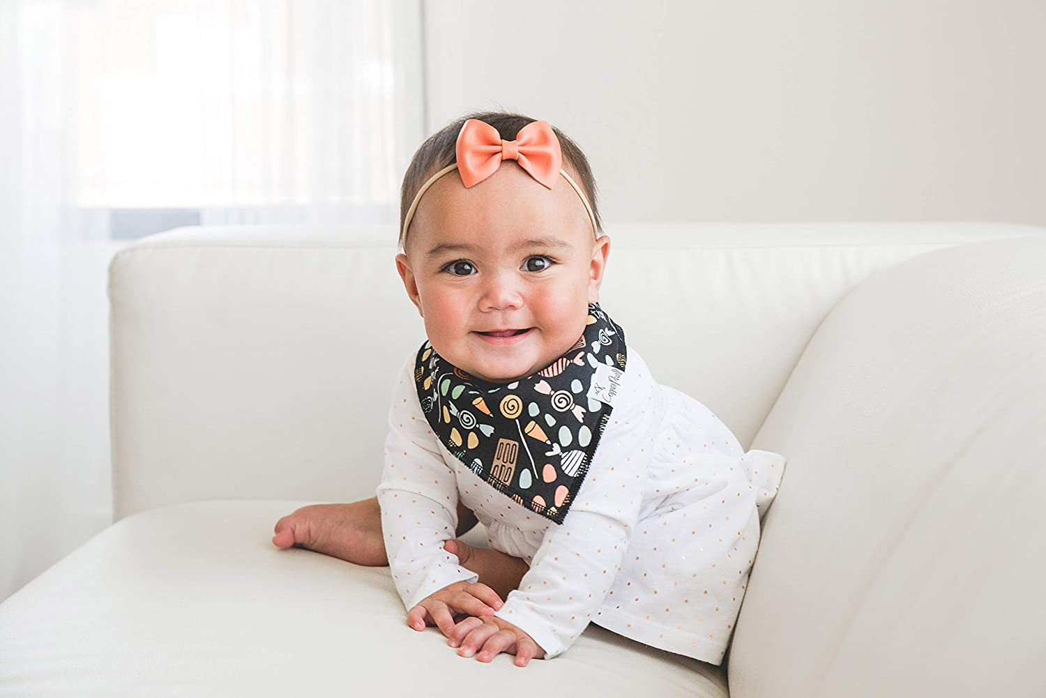 """Baby Bandana Drool Bibs for Drooling and Teething 4 Pack Gift Set /""""Wicked/"""" by Copper Pearl"""