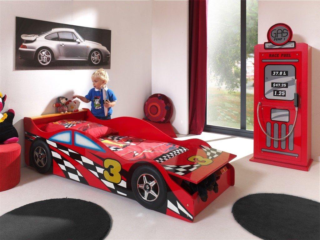 Autobett sctdrc Toddler Race Kinderbett MDF Rot 175x 78x 48cm