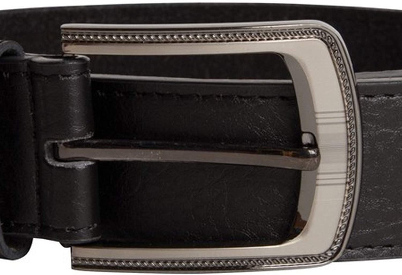 Duke Mens Samuel Large Buckle Leather Belt