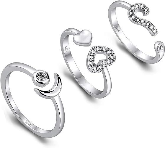 Toe Rings Set 3 pcs Fashion Crystals Jewelry