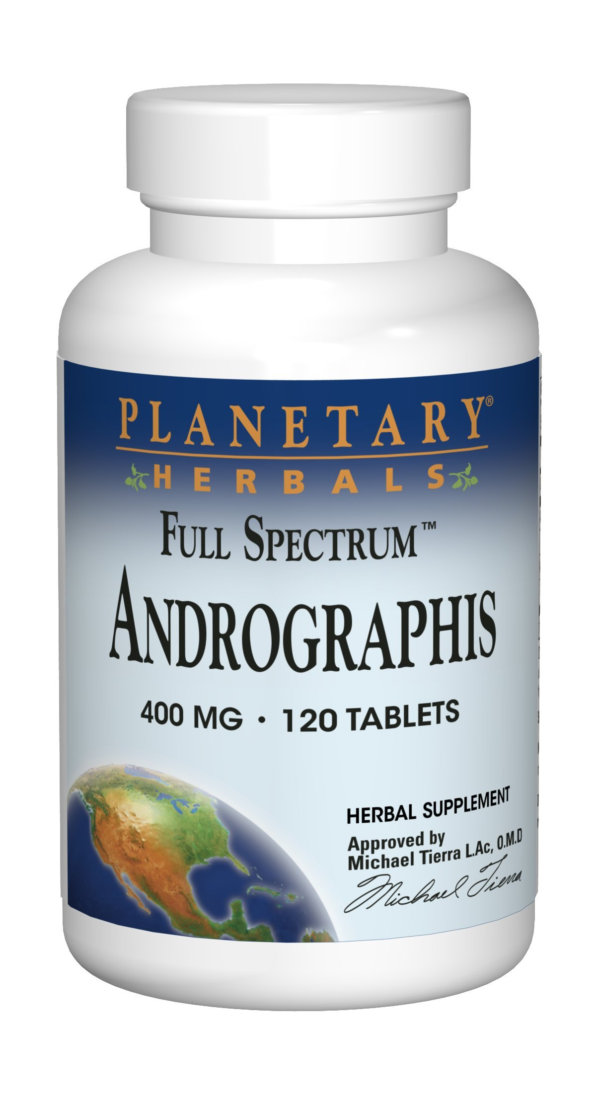 Planetary Herbals Full Spectrum Andrographis 400mg Support Healthy Digestive, Cardiovascular & Unrinary Systems - Support For Healthy Liver & Immune Function - Ayurvedic Herb - 120 Tablets
