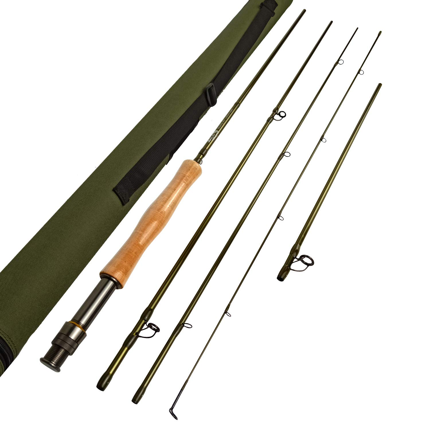 Fly Fishing Rod Z European Master Design Wild Trout Multi-Fly IM12 Nano Fly Fishing Rod 9 LW5 6 4pc into 10 4 Fast Action with Extra Extension Section Trout Nymph