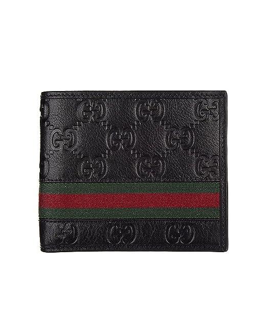 Gucci - Portafoglio in pelle da Uomo GUCCISSIMA MARGAUX - nero  Amazon.it   Abbigliamento 8aaac8df01f