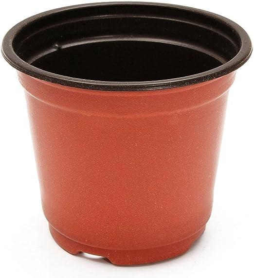 FZGZSW Maceta De Flores Boutique práctica 50 Piezas macetas de Plantas de plástico Jardín en casa Vivero Macetas: Amazon.es: Jardín