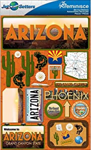 Reminisce Jet Setters Dimensional Stickers-Arizona