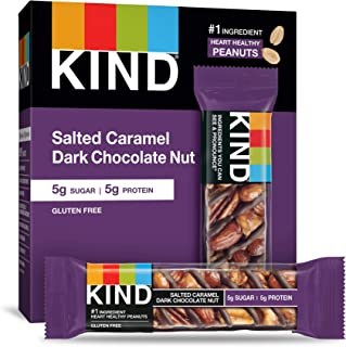 product image for KIND Bars, Salted Caramel Dark Chocolate Nut, Gluten Free, Low Sugar, 1.4 Ounce Bars, 60 Count