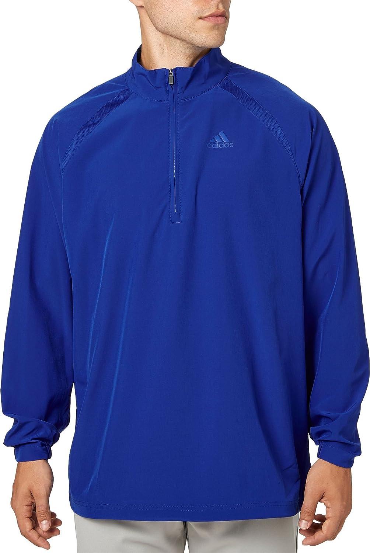 Adidasメンズトリプルストライプ長袖野球ジャケット B077KS2VWV Medium|Blue Surf Blue Surf Medium