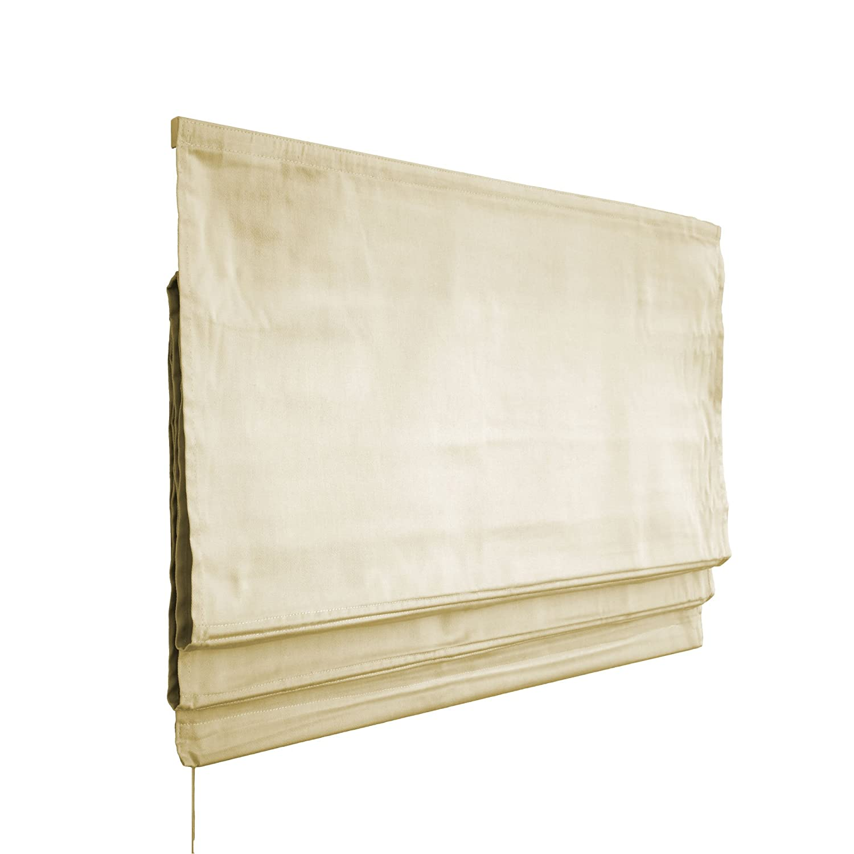 VICTORIA M Klemmfix Tenda a pacchetto per finestra montabile senza fori, 100 x 175cm, crema