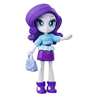 """My Little Pony Equestria Girls Fashion Squad Rarity 3"""" Mini Doll with Removable Outfit, Shoes & Accessory, for Kids 5 & Up: Toys & Games"""