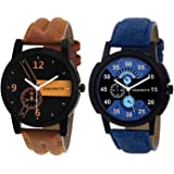 DAINTY Men's and Boy's Analogue Multi-Colour Dial Set of Two Combo Watch