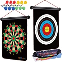 TriMagic Magnetic Dart Board with 12 Safety Darts and Portable Bag - Best Birthday...