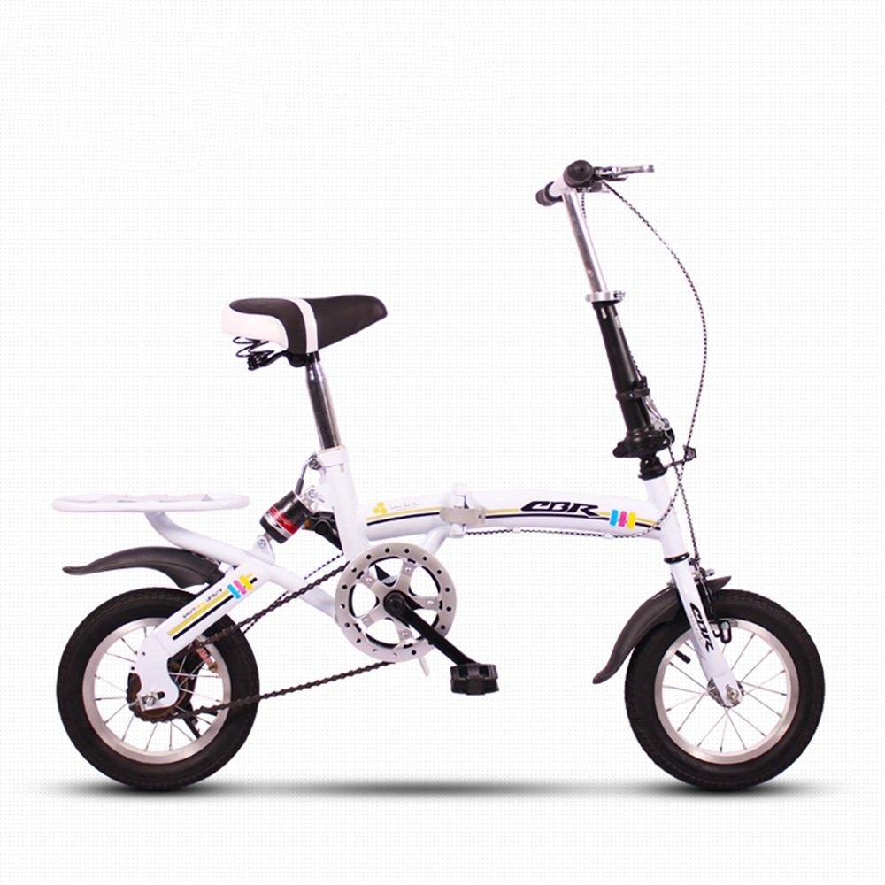 HAIZHEN マウンテンバイク 折りたたみ自転車12インチミニ小型ポータブル超軽量ダンピングはスペースを占有しない子供用自転車 新生児 B07DS15Y87 白 白