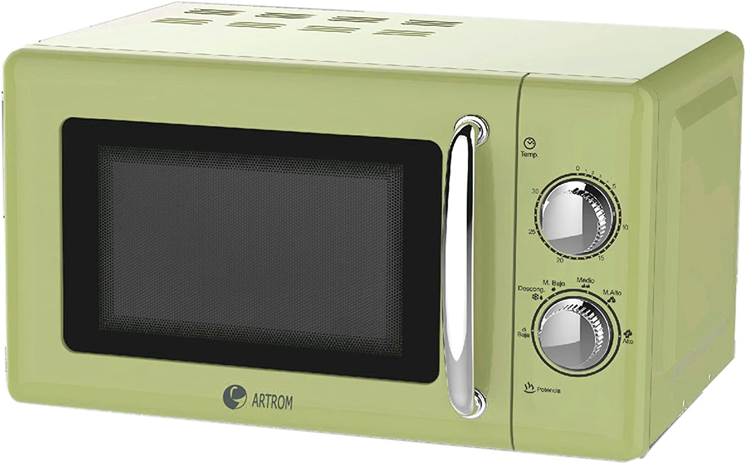 Artrom MM-720VML - Microondas retro, 700 W, color verde