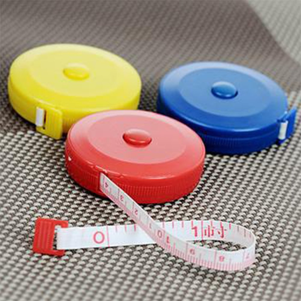 Tape Measure 60 Inch Push Button Tape Body Measuring Soft Retractable For Sewing Double-Sided Tailor Cloth Ruler Random Color GEZICHTA