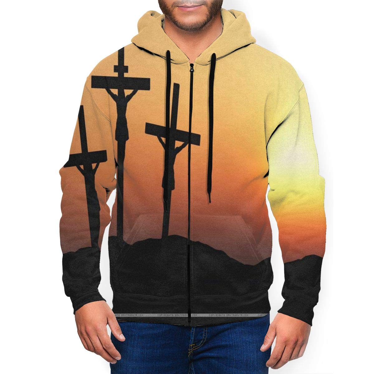 Surf/&Nee Capricorn Constellation Mens Hoodie Pullover Fleece Sweatshirt with Pocket