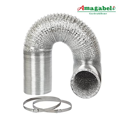 4in Aluminum Foil Duct Hose Grow Tent Room Ventilation Cooling System 8ft Flex Air Intake Helix  sc 1 st  Amazon.com & Amazon.com : 4in Aluminum Foil Duct Hose Grow Tent Room ...