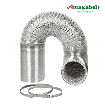 6in Aluminum Foil Duct Hose Flex Grow Tent Room Ventilation Cooling System 25ft Air Intake Helix  sc 1 st  Amazon.com & Amazon.com : 6in Aluminum Foil Duct Hose Flex Grow Tent Room ...