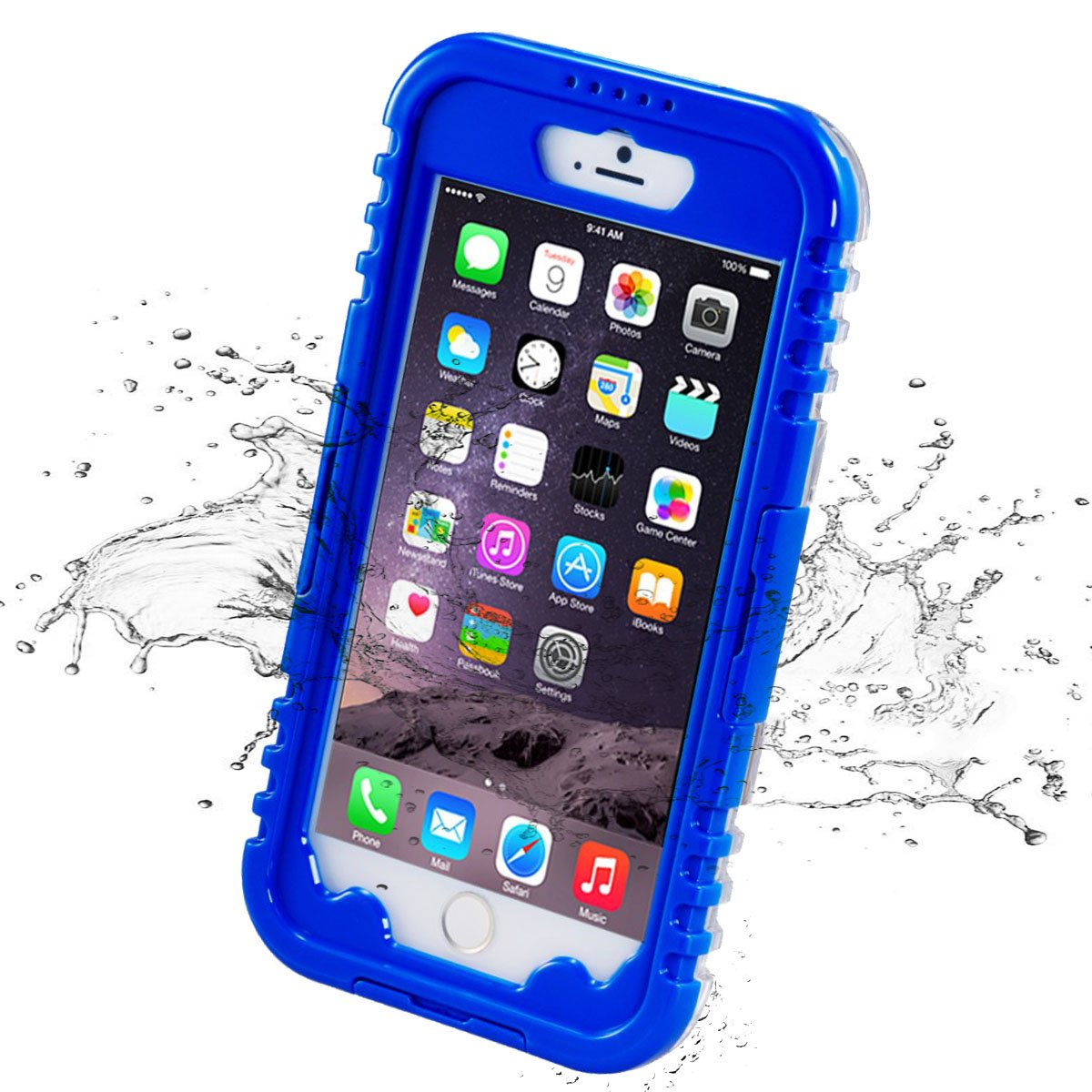 iPhone X Waterproof Case, iThrough® Underwater Case for iPhone X 5.8 Inch, Heavy Duty Shock Rain Snow Dust Proof Protective Case Cover for iPhone X with Touched Transparent Screen Protector (Black) iThrough Limited ITGH305B-CA
