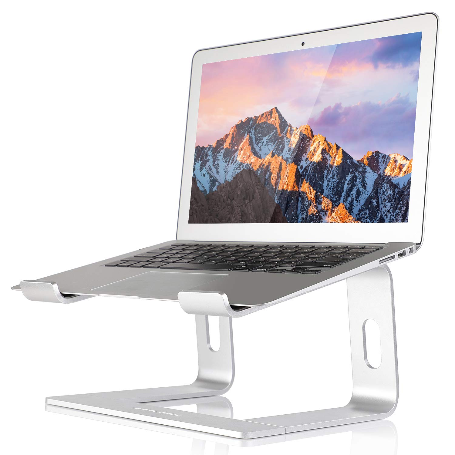 JARLINK Aluminum Laptop Stand, Ergonomic Detachable Laptop Holder Riser Compatible with MacBook Air Pro/Dell XPS/HP/Lenovo (up to 15.6 inches), Silver by JARLINK