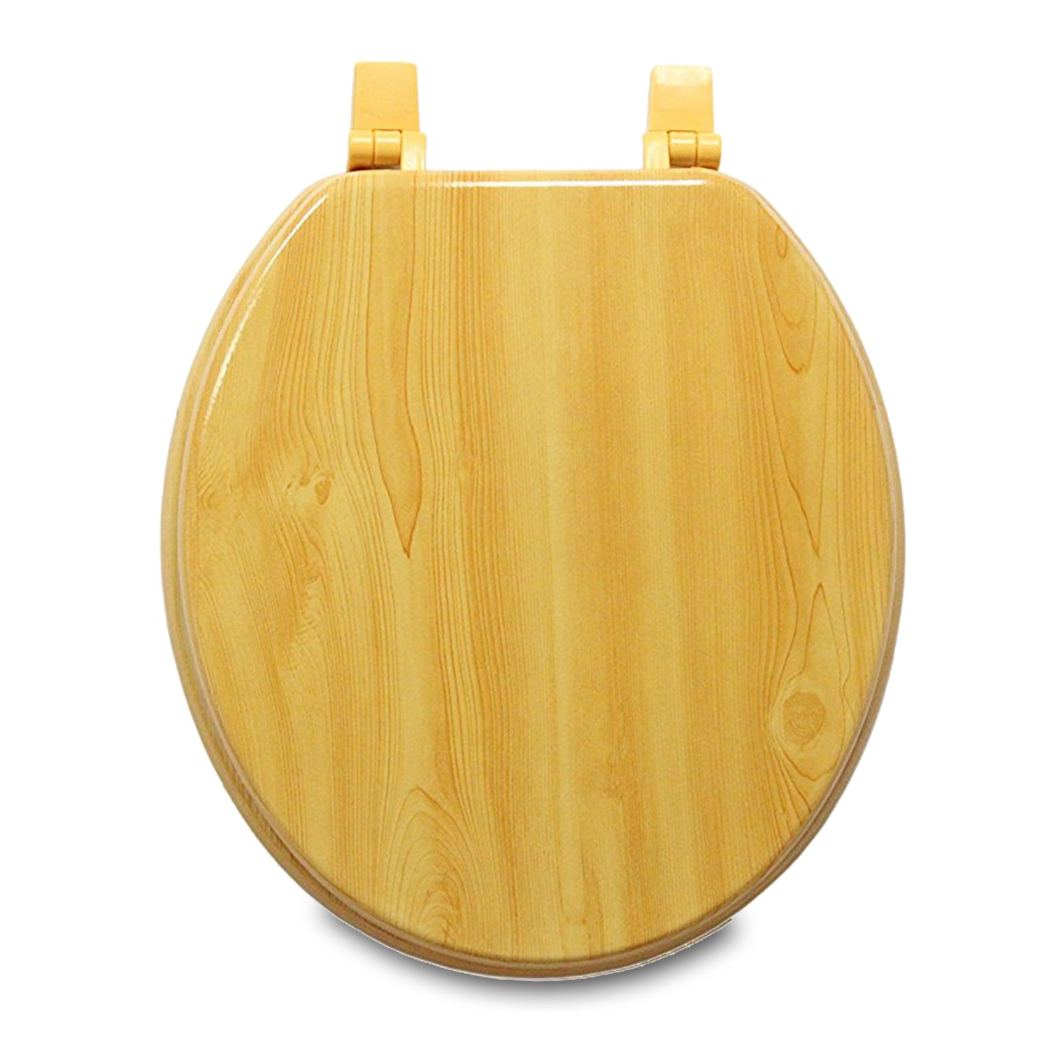 Trimmer Wood Grain Molded Seats With Oak Finish - Wood Composite with Water and Stain-resistant Finish