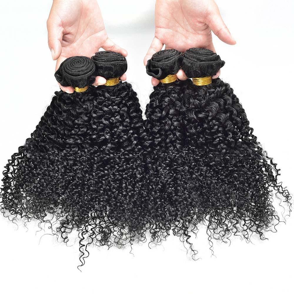 MZP pelo humano verdadero de alta calidad de la cortina de pelo rizado 3pcs , 10inch