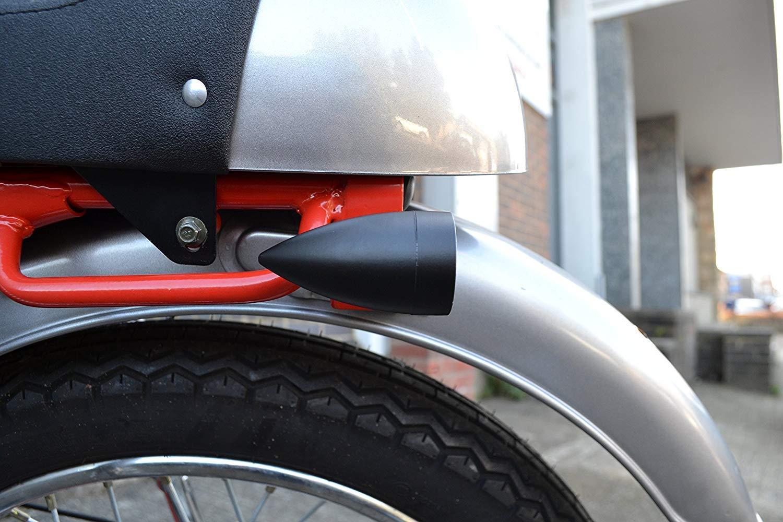 Noir Mat Acier LED Moto Clignotants Id/éal pour Custom Bikes
