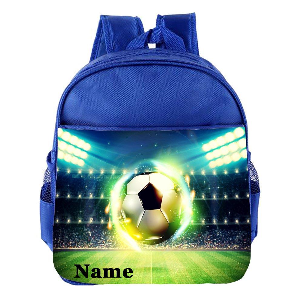 Football Personalised Customised Kids Toddlers Nursery School Bag Backpack