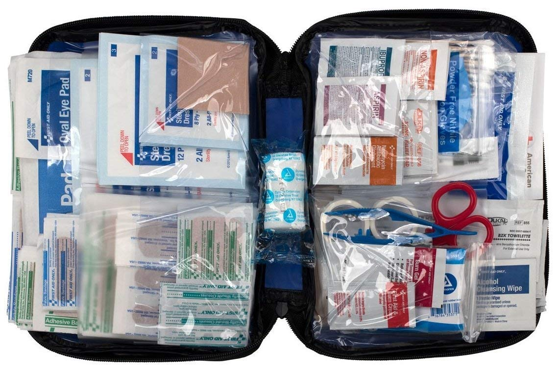 First Aid Only All-Purpose First Aid Essentials Kit, 299 Pieces, Fabric Case FAO-442