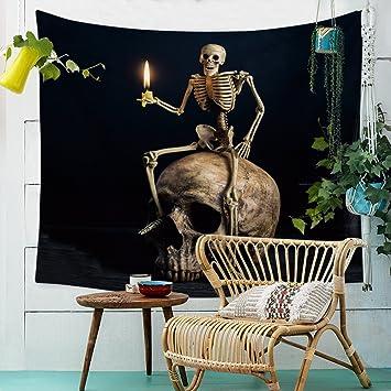 Wecail Halloween-Deko aus Totenkopf und Blumen, die Tag der Toten ...