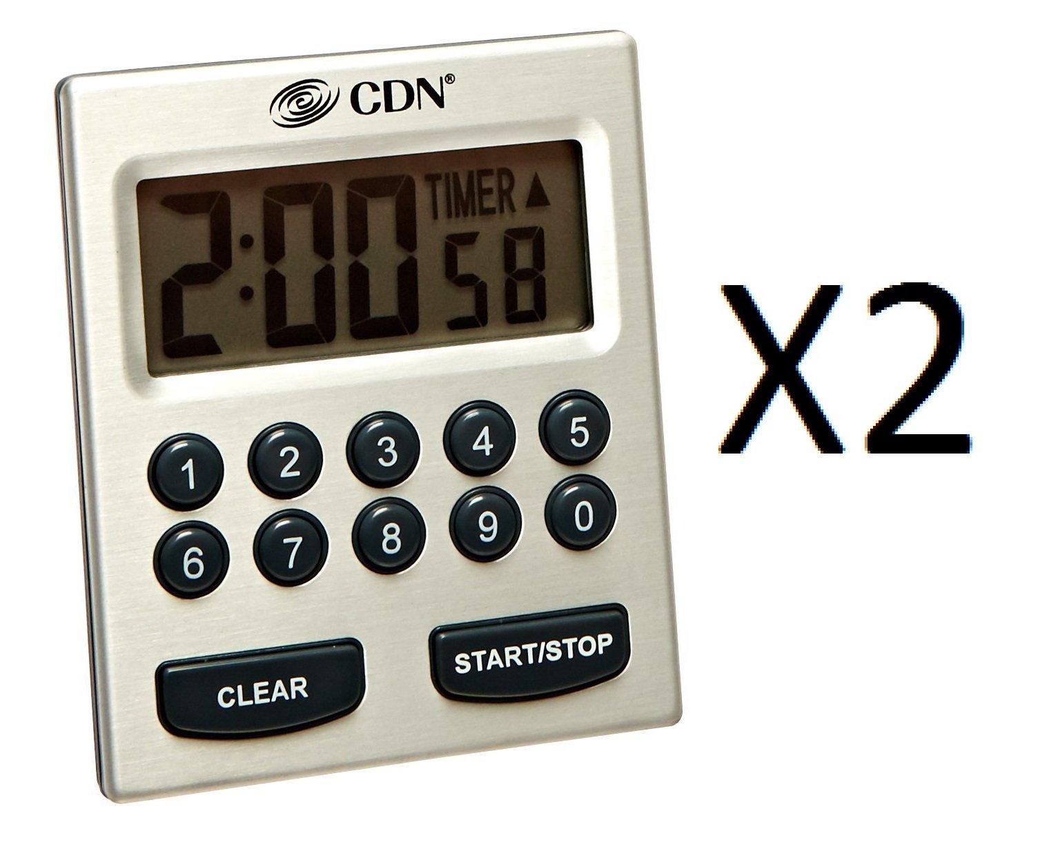CDN TM30 Direct Entry 2-Alarm Timer-Alarm Sounds or Vibrates - 2 count