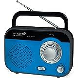 Sunstech RPS560BL - Radio de sobremesa AM/FM, altavoz, 800 mW RMS