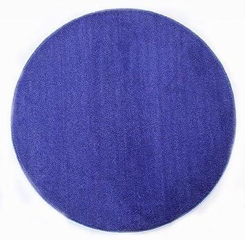 Fantastisch Homescapes Dekorativer Kurzflor Teppich Rund Blau   150 Cm