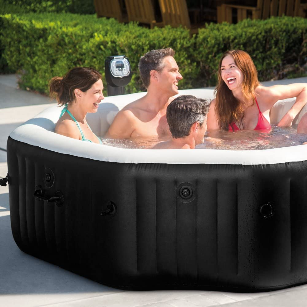 Intex 28456 - Spa hinchable Jet y Burbujas octogonal 1.098 litros ...
